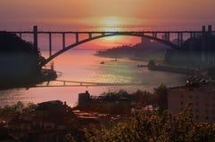 Η γέφυρα Arrabida στο Πόρτο, Πορτογαλία Στοκ Εικόνες