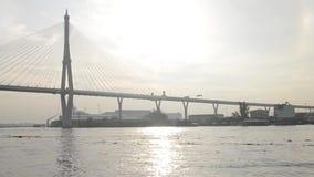 Η γέφυρα Bhumibol, Ταϊλάνδη απόθεμα βίντεο