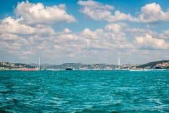η γέφυρα bosphorus της Ασίας συνδέει την Ευρώπη Κωνσταντινούπολη Τουρκία στοκ εικόνα με δικαίωμα ελεύθερης χρήσης