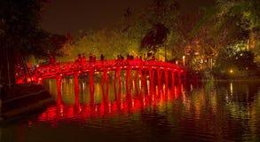Η γέφυρα huc στη νύχτα Στοκ Εικόνες