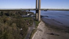 Η γέφυρα Humber, Κίνγκστον επάνω στο Hull Στοκ φωτογραφία με δικαίωμα ελεύθερης χρήσης