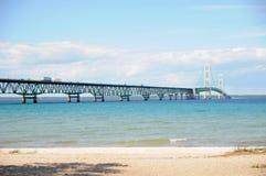 Η γέφυρα Mackinaw 5 μιλι'ου Στοκ φωτογραφίες με δικαίωμα ελεύθερης χρήσης