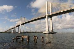 Η γέφυρα Newton Navarro, γενέθλια, RN, Βραζιλία Στοκ Εικόνα