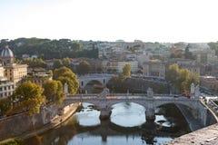 Η γέφυρα Ponte Sant ` Angelo Στοκ Φωτογραφίες