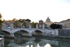 Η γέφυρα Ponte Sant ` Angelo Στοκ Εικόνες
