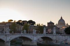 Η γέφυρα Ponte Sant ` Angelo Στοκ φωτογραφίες με δικαίωμα ελεύθερης χρήσης