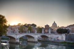 Η γέφυρα Ponte Sant ` Angelo Στοκ φωτογραφία με δικαίωμα ελεύθερης χρήσης