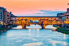 Η γέφυρα Ponte Vecchio στη Φλωρεντία, Ιταλία Στοκ Φωτογραφία