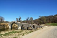 Η γέφυρα Pramortsa στην Κοζάνη, Ελλάδα Στοκ Φωτογραφίες