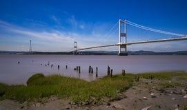 Η γέφυρα Severn μεταξύ της Αγγλίας και της Ουαλίας Στοκ Εικόνα