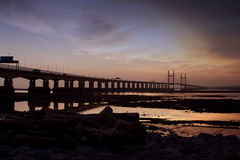 Η γέφυρα Severn Στοκ εικόνες με δικαίωμα ελεύθερης χρήσης