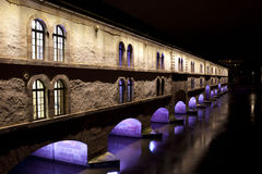Η γέφυρα Vauban φραγμάτων στο Στρασβούργο, Αλσατία, Γαλλία στοκ εικόνα με δικαίωμα ελεύθερης χρήσης
