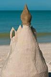 η γίνοντη κάστρο άμμος παραλιών σμιλεύει τη μορφή Στοκ φωτογραφία με δικαίωμα ελεύθερης χρήσης