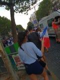 Η Γαλλία γιορτάζει το Παγκόσμιο Κύπελλο το 2018 κερδίζει στοκ φωτογραφίες