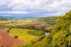 Η γαλλική επαρχία γύρω από Domme στοκ εικόνες
