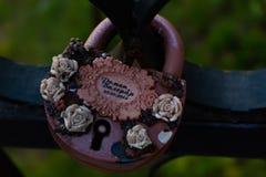 Η γαμήλια κλειδαριά στοκ φωτογραφία με δικαίωμα ελεύθερης χρήσης