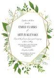 Η γαμήλια πρόσκληση, floral προσκαλεί εκτός από την ημερομηνία τη σύγχρονη κάρτα Desi ελεύθερη απεικόνιση δικαιώματος
