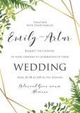 Η γαμήλια floral πρόσκληση, προσκαλεί, εκτός από το πρότυπο ημερομηνίας Vecto απεικόνιση αποθεμάτων