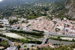 Η γαλλική πόλη Anduze Στοκ Εικόνες