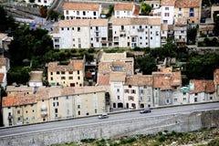 Η γαλλική πόλη Anduze Στοκ Εικόνα