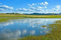 Η γενική λίμνη σε WulanBu όλο το αρχαίο πεδίο μάχη λιβαδιών Στοκ εικόνες με δικαίωμα ελεύθερης χρήσης