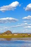 Η γενική λίμνη σε WulanBu όλο το αρχαίο πεδίο μάχη λιβαδιών Στοκ Εικόνα