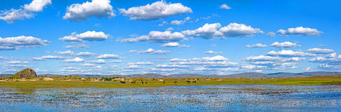 Η γενική λίμνη σε WulanBu όλο το αρχαίο πεδίο μάχη λιβαδιών Στοκ φωτογραφία με δικαίωμα ελεύθερης χρήσης