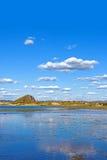 Η γενική λίμνη σε WulanBu όλο το αρχαίο πεδίο μάχη λιβαδιών Στοκ Φωτογραφία