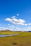 Η γενική λίμνη σε WulanBu όλο το αρχαίο πεδίο μάχη λιβαδιών Στοκ εικόνα με δικαίωμα ελεύθερης χρήσης
