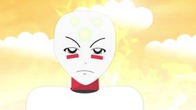 Η γενική πλαστή δράση Anime ή Manga παρουσιάζει - αλλοδαπό πορτρέτο διανυσματική απεικόνιση