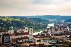 Η γερμανική πόλη του Πάσσαου στοκ φωτογραφία με δικαίωμα ελεύθερης χρήσης