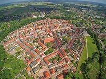 Η γερμανική πόλη Wittstock/Dosse διαμορφώνει τον αέρα Στοκ φωτογραφίες με δικαίωμα ελεύθερης χρήσης