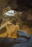 Η γεωλογική σπηλιά άμμου στο Ισραήλ Στοκ Φωτογραφία