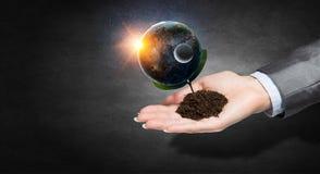 η γη δίνει τον πλανήτη μας Μικτά μέσα Μικτά μέσα Στοκ φωτογραφία με δικαίωμα ελεύθερης χρήσης