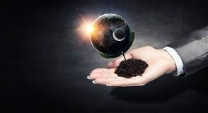 η γη δίνει τον πλανήτη μας Στοκ Φωτογραφία