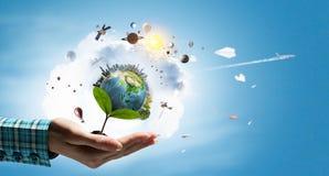 η γη δίνει τον πλανήτη μας Στοκ εικόνα με δικαίωμα ελεύθερης χρήσης
