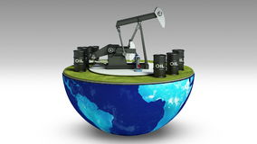 Η γη αλλάζει τη γεώτρηση πετρελαίου Τύμπανο πετρελαίου διανυσματική απεικόνιση
