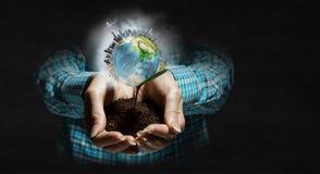 η γη δίνει τον πλανήτη μας Μικτά μέσα Στοκ φωτογραφία με δικαίωμα ελεύθερης χρήσης