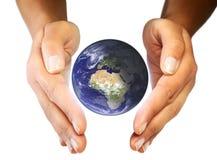 η γη προσοχής δίνει το σα&sigm Στοκ Εικόνες