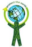η γη προστατεύει ελεύθερη απεικόνιση δικαιώματος