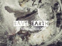 η γη σώζει Εναέρια άποψη της άμμου ανοικτών κοιλωμάτων στην Πολωνία Στοκ Εικόνες