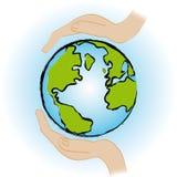 η γη σώζει Στοκ Φωτογραφία