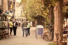 Η για τους πεζούς ζώνη σε Viersen Στοκ Εικόνα