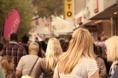 Η για τους πεζούς ζώνη σε Viersen Στοκ Εικόνες