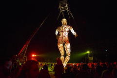 Η γιγαντιαία μαριονέτα εμφανίζει Στοκ φωτογραφία με δικαίωμα ελεύθερης χρήσης