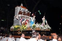 Η γιορτή του ST Clare στο θρησκευτικό φεστιβάλ Arenzano Στοκ φωτογραφίες με δικαίωμα ελεύθερης χρήσης