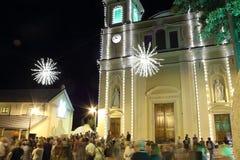 Η γιορτή του ST Clare στο θρησκευτικό φεστιβάλ Arenzano Στοκ Εικόνες