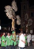 Η γιορτή του ST Clare στο θρησκευτικό φεστιβάλ Arenzano Στοκ Φωτογραφία