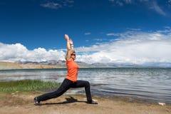 Η γιόγκα κοντινή τοποθετεί το yatra του Θιβέτ Kailas σειράς Kailash Ιμαλάια Στοκ φωτογραφίες με δικαίωμα ελεύθερης χρήσης