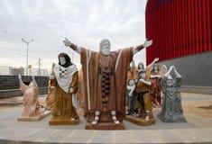 Η γλυπτική σύνθεση του Μωυσή οδήγησε τους Εβραίους από την αιγυπτιακή  στοκ φωτογραφία
